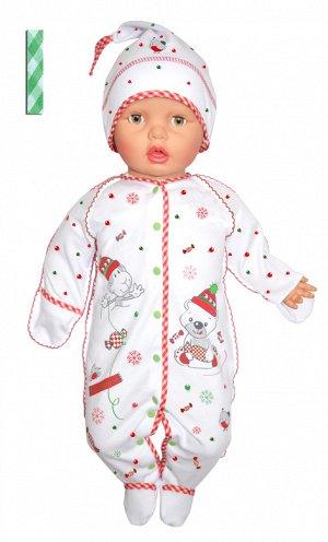 Комплект (комбинезон и шапочка) Снеговичок - 2 цвета!!!