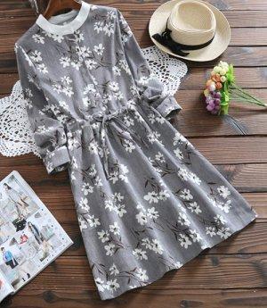 Симпатичное вельветовое платье!