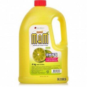 Средство для мытья посуды, овощей и фруктов Mam Lemon запасной блок 4 кг. Аромат Лайма