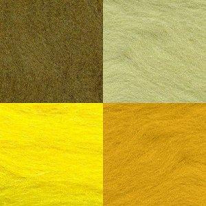 Набор шерсти для валяния цвет Ассорти №9