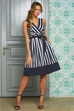 Платье арт. 1706-51429 темно-синий