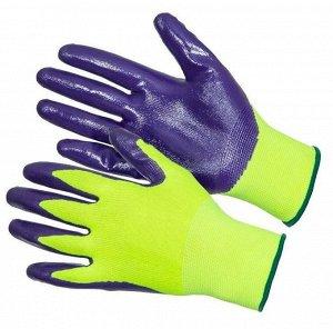 перчатки Очень хорошие перчатки! Советую! Перчатки рабочие нейлоновые 13 класс вязки с нитрильным обливом, СУПЕР ЛЮКС НОВИНКА (Размер 9)