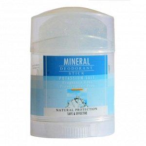 Дезодорант-Кристалл  DeoNat , кристалл-минерал, чистый ,стик, плоский, плавленый, вывинчивающийся (twist up), 70 гр.