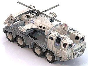"Военный тягач ""Арктика"" с вертолетом 56х25х26,5 см.10"