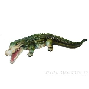 "Фигура декоративная садовая""Крокодил №2"", L74 W29H17см"