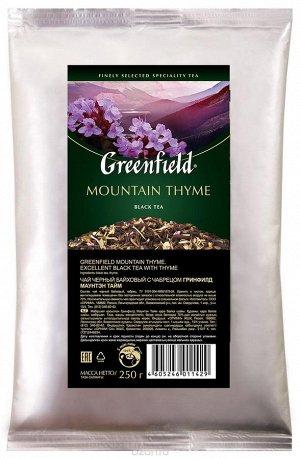 Черный чай листовой Greenfield Mountain Thyme с чабрецом, 250 г