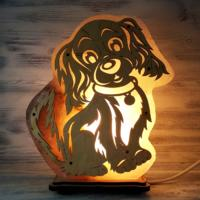 "Солевая лампа ""Собака"" большая 2-3 кг 0"