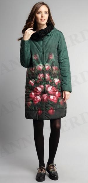Шикарное зимнее пальто двустороннее Anna Verdi