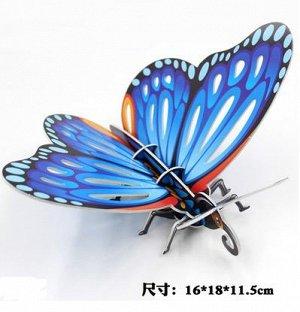 Бабочка Размер на фото. Детали выдавливаются и скрепляются без помощи клея.