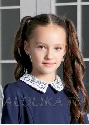Белый воротник для школьного платья Эмма