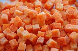 Морковь кубиками быстрозамороженная Vegepak  СОРТ А 1,0кг