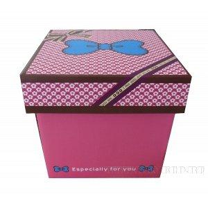 Коробка подарочная (складная), L16 W16 H16 см, (б/инд.уп.)