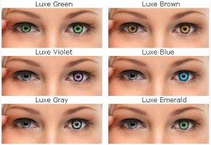 Цветные контактные линзы Illusion Fashion Luxe (2 линзы)