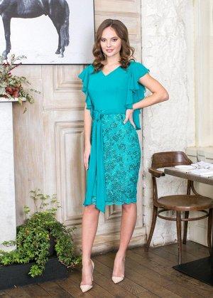 Бирюзовое платье, очень красивое, размер 42, 42-44