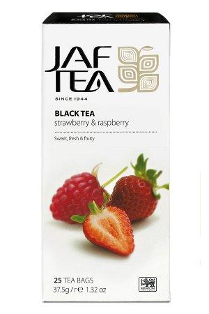 Чай JAF Strawberry & Raspberry черный, 25пак
