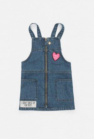 Сарафан джинсовый детский для девочек Pixi синий