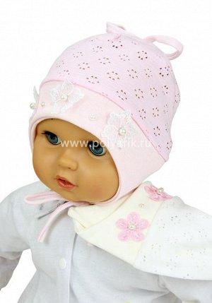 Хорошенькая шапочка на малышку
