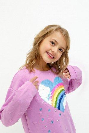 Джемпер детский для девочек Sofiya светло-фиолетовый
