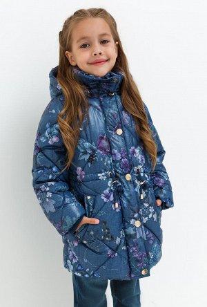 Пальто детское для девочек Pictor темно-синий
