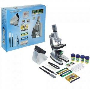 Микроскоп сувенирный ,детский х50-1200, проектор, с подсветкой,32*5*30 см.