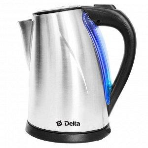 Чайник DELTA DL-1033 (12) нерж.,: 2000 Вт, 2 л (РОССИЯ)
