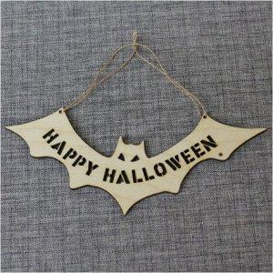 """Подвеска-летучая мышь """"Happy halloween"""""""