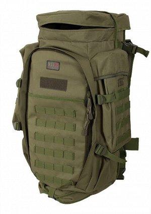 Рюкзак с чехлом для ружья хаки-оливковый (75 л) (CH-10) №7 - Плечевые лямки и поясничный ремень выполнены мягкими и снабжены сеткой типа Air Mesh для улучшения микроциркуляции воздуха и обеспечения ко