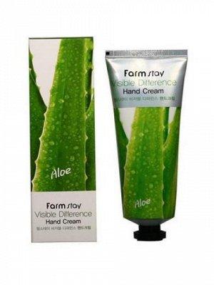 Farm Stay Visible Difference hand cream Aloe Крем для рук с экстрактом алое 100мл