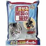 Бумажный наполнитель для кошачьего туалета IRIS с углем