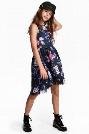 Стильное платье известного бренда H&M, на рост 150-160 cv/