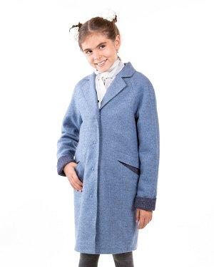 Пальто Материал: Валяная шерсть РАЗМЕР: Рост 170,Рост 164,Рост 158,Рост 146 ЦВЕТ: Голубой