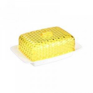 Масленка Масленка [МОЗАИКА] БЕЛО-ЖЕЛТЫЙ. Размеры изделия: Д /Ш /В 185 /120 /72 мм. Масленка «Мозаика» прекрасно подходит для хранения масла и сервировки стола. Масленка состоит из прямоугольного пласт