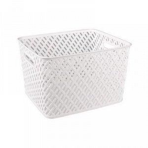 Корзина Корзина [ПЛЕТЁНКА] БЕЛЫЙ. Размеры изделия: Д / Ш / В 350 / 290 / 225 мм. Корзина предназначена для хранения мелочей в ванной, на кухне, на даче или в гараже. Данное изделие позволит хранить ме