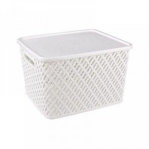 Корзина Корзина   350*290*225мм с/кр [ПЛЕТЁНКА] БЕЛЫЙ.Корзина предназначена для хранения мелочей в ванной, на кухне, на даче или в гараже. Данное изделие позволит хранить мелкие вещи, исключая возможн