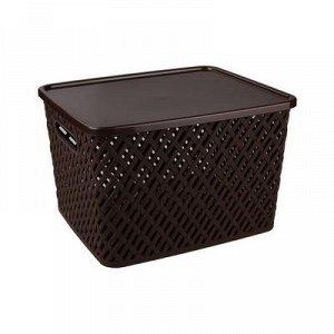 Корзина Корзина с/кр [ПЛЕТЁНКА] КОРИЧНЕВЫЙ. Размеры изделия: 350*290*225мм.Корзина предназначена для хранения мелочей в ванной, на кухне, на даче или в гараже. Данное изделие позволит хранить мелкие в