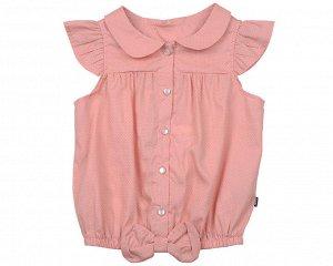 Блузка в горошек (98-122см)UD 3270(2)розовый