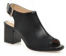 Босоножки с открытыми носком и пяткой Высота каблука: 6 см Цвет: ЧЕРНЫЙ