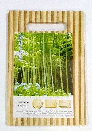Доска разделочная - бамбук (сред)