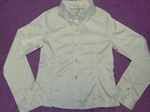 Рубашка школьная атласная