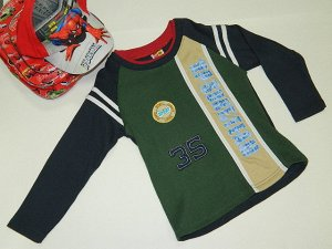Пуловер спорт зеленый