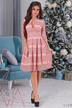 Платье с гепюром