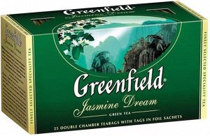 Чай Гринфилд Jasmine Dream green tea 2г 1/25/10, шт