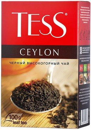 Чай Тесс Ceylon black tea 100г лист