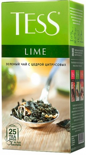 Чай Тесс Lime green tea 1,5г х 25 пакетиков