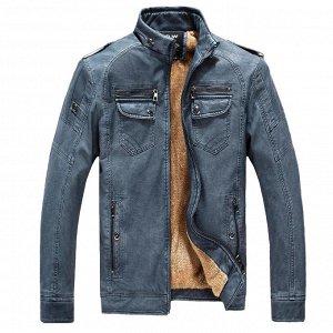 Куртка мужская утепленная, цвет синий