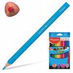 """Карандаши цветные утолщенные MAPED (Франция) """"Color Pep's"""","""