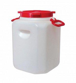 Канистра Канистра 30,0 л прямоугольная [БОЧКА]. Размеры изделия: Д / Ш / В280/ 280/ 420 мм. Канистра изготовлена из прочного пищевого пластика и предназначена для транспортировки и хранения пищевых ж