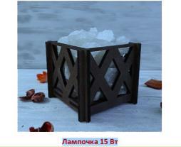 """Соляной светильник """"Корзина"""" малая РОМБ 1,4 кг"""
