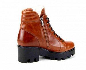 Ботинки натуральная кожа navara коричневый