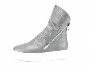 Ботинки кожа серый демисезон